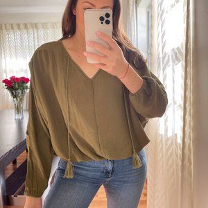 NWT Summer Top in Olive